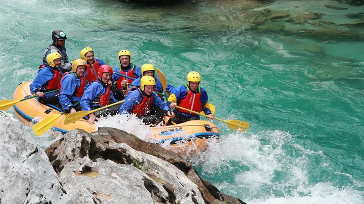 Rafting-Bovec-Rafting down the Soca river in Bovec, Slovenia-1