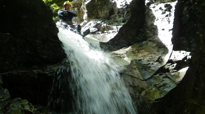 Canyoning-Bovec-Fratarica canyon near Bovec, Slovenia-2
