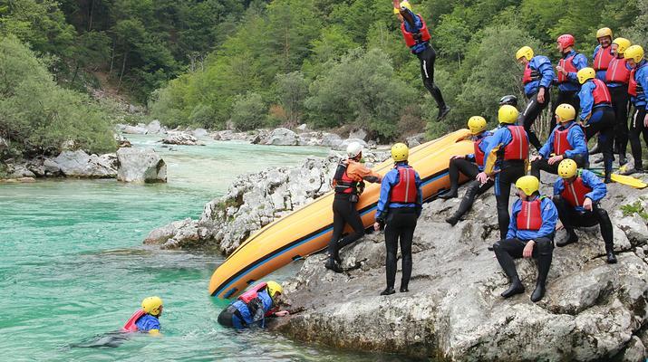 Rafting-Bovec-Rafting down the Soca river in Bovec, Slovenia-4