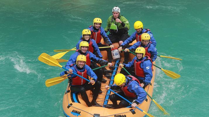 Rafting-Bovec-Rafting down the Soca river in Bovec, Slovenia-3