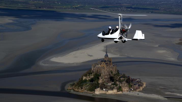 U.L.M-Le Mont-Saint-Michel-Baptême ULM au-dessus du Mont-Saint-Michel-4