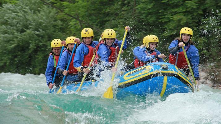 Rafting-Bovec-Rafting down the Soca river in Bovec, Slovenia-2