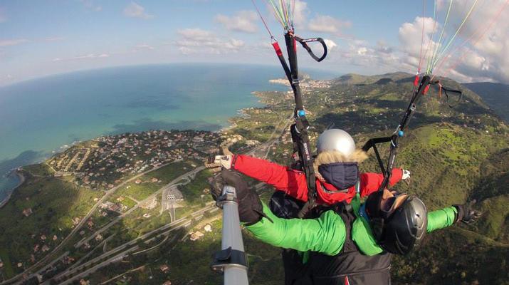 Parapente-Cefalù-Vol en Parapente Biplace au-dessus de Cefalù en Sicile-3
