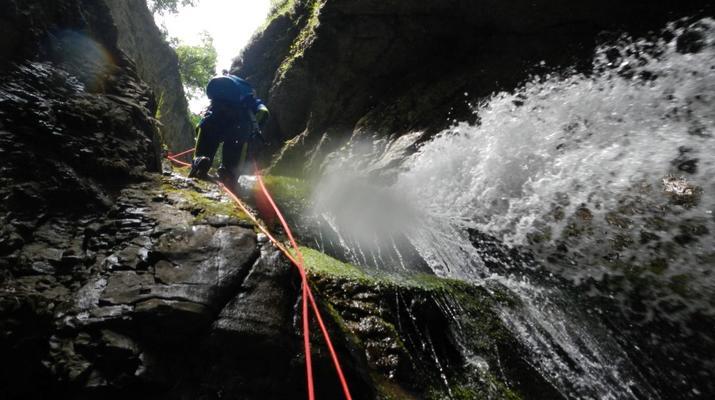 Canyoning-Trentino-Adventure canyoning through the Rio Neva and Val Noana, near Mezzano.-4