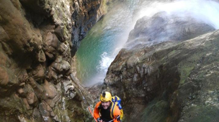 Canyoning-Trentino-Adventure canyoning through the Rio Neva and Val Noana, near Mezzano.-2