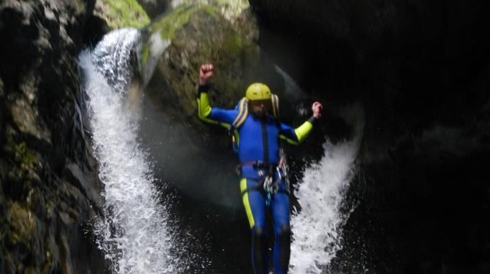 Canyoning-Trentino-Adventure canyoning through the Rio Neva and Val Noana, near Mezzano.-1