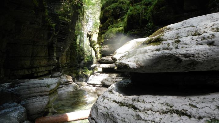 Canyoning-Trentino-Adventure canyoning through the Rio Neva and Val Noana, near Mezzano.-3