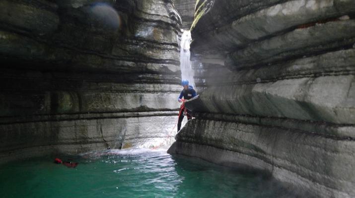Canyoning-Trentino-Adventure canyoning through the Rio Neva and Val Noana, near Mezzano.-6