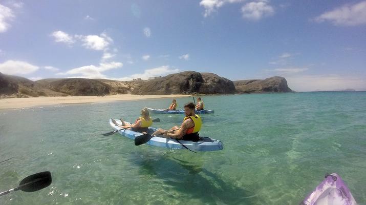 Sea Kayaking-Playa Blanca, Lanzarote-Kayak & Snorkel excursion to Playa Papagayo, Lanzarote-21