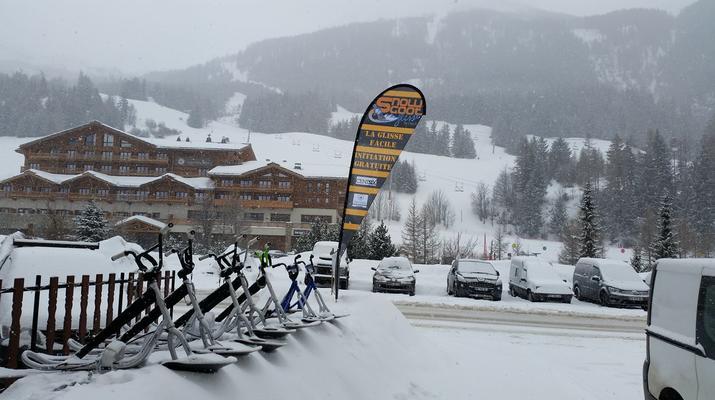 Experiencias en la nieve-Val Cenis, Haute Maurienne-Iniciación al snowscoot en Val Cenis-3