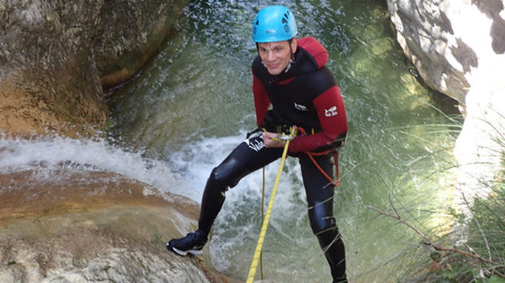 Canyoning-Nice-Canyon des Gorges du Loup près de Nice-4