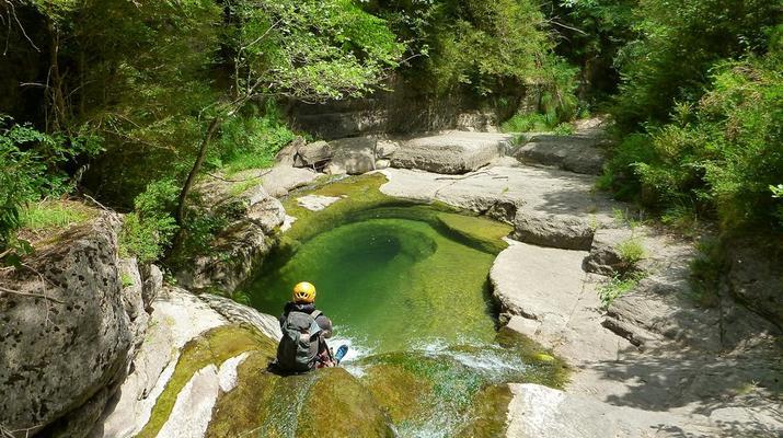 Canyoning-Nice-Canyon du Riou de La Bollène près de Nice-1