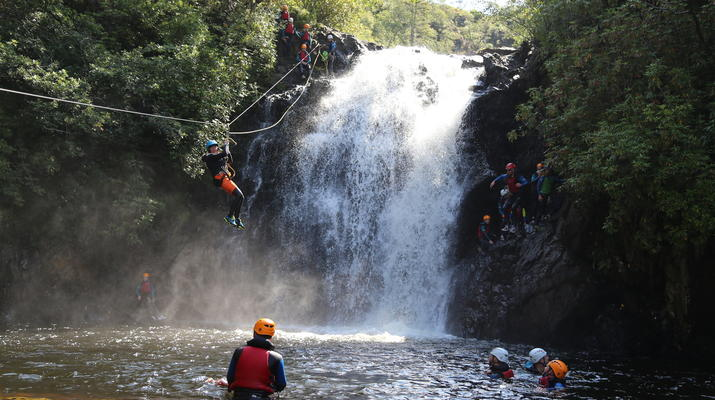 Canyoning-Fort William-Inchree Falls-Schlucht in Fort William-1