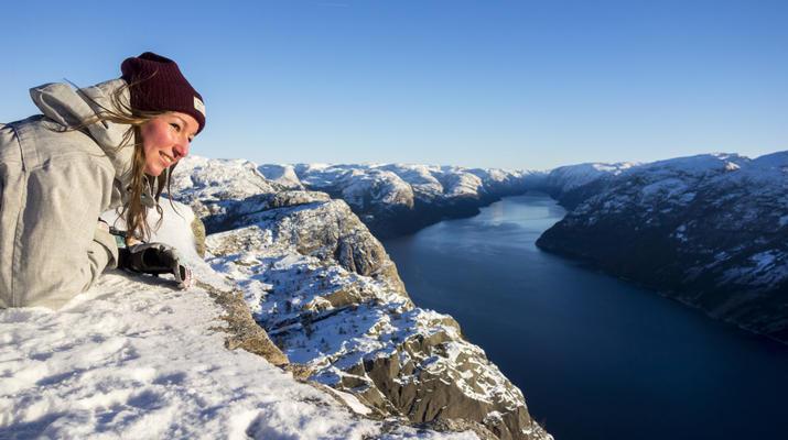 Snowshoeing-Stavanger-Winter/Spring Hike to Preikestolen (Pulpit Rock) in Ryfylke-5