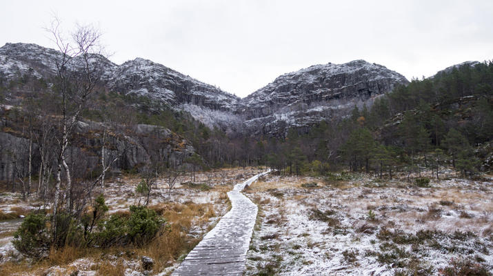 Randonnée / Trekking-Stavanger-Randonnée naturelle vers Preikestolen (rocher de la chaire) à Ryfylke.-3