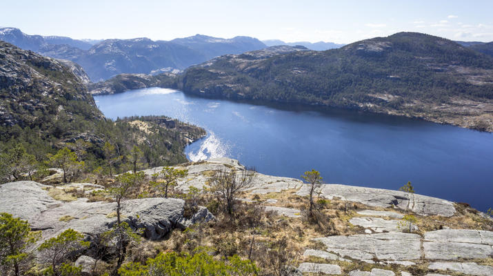 Randonnée / Trekking-Stavanger-Randonnée naturelle vers Preikestolen (rocher de la chaire) à Ryfylke.-9
