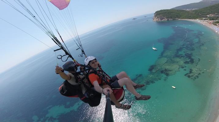 Paragliding-Budva-Tandem paragliding flight in Petrovac, Montenegro-6