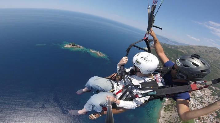 Paragliding-Budva-Tandem paragliding flight in Petrovac, Montenegro-5