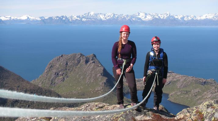 Rock climbing-Skutvik-Rock climbing up Hamarøyskaftet mountain in Skutvik-3
