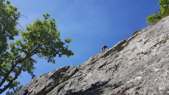 Escalade-Gorges du Tarn-Découverte de l'escalade grande voie dans les Gorges du Tarn-2