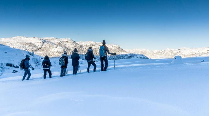 Snowshoeing-Stavanger-Winter/Spring Hike to Preikestolen (Pulpit Rock) in Ryfylke-8