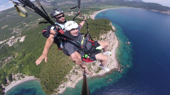 Paragliding-Budva-Tandem paragliding flight in Petrovac, Montenegro-2