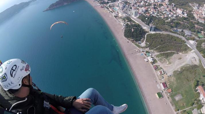Paragliding-Budva-Tandem paragliding flight near Budva, Montenegro-6