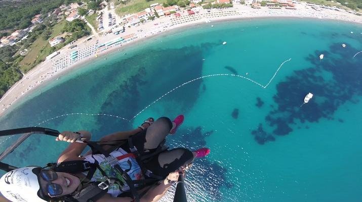Paragliding-Budva-Tandem paragliding flight in Petrovac, Montenegro-3