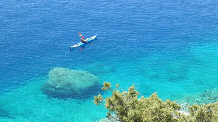 Kayak de mer-Epidaurus-Excursion en kayak de mer dans la ville engloutie d'Epidaure-2