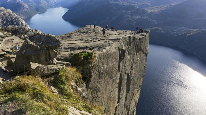 Randonnée / Trekking-Stavanger-Randonnée naturelle vers Preikestolen (rocher de la chaire) à Ryfylke.-5