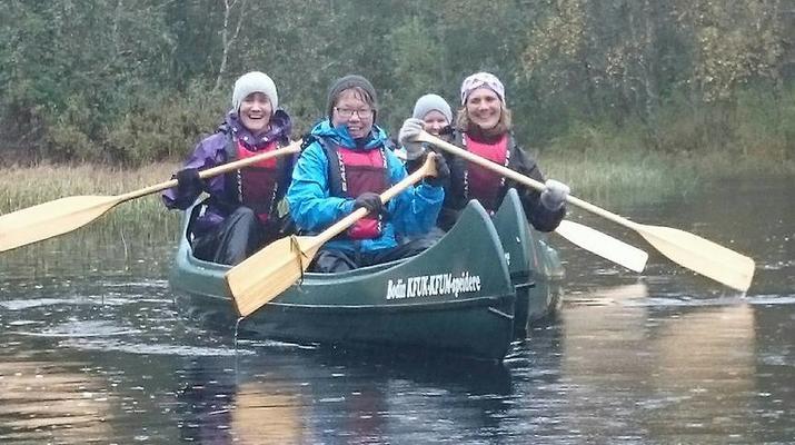 Kayaking-Bodø-Canoeing excursion down the Futelva River near Bodø-4