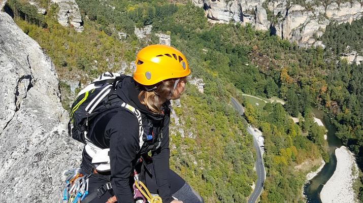 Escalade-Gorges du Tarn-Découverte de l'escalade grande voie dans les Gorges du Tarn-4