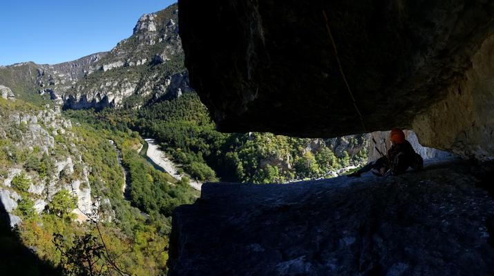 Escalade-Gorges du Tarn-Découverte de l'escalade grande voie dans les Gorges du Tarn-3
