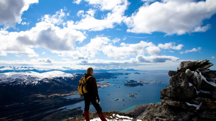 Hiking / Trekking-Bodø-Guided summit hike to Mt. Litltind in Bodø-3