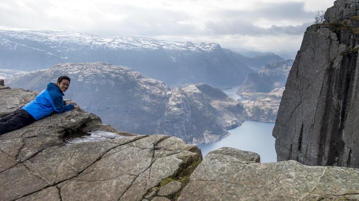 Randonnée / Trekking-Stavanger-Randonnée naturelle vers Preikestolen (rocher de la chaire) à Ryfylke.-4