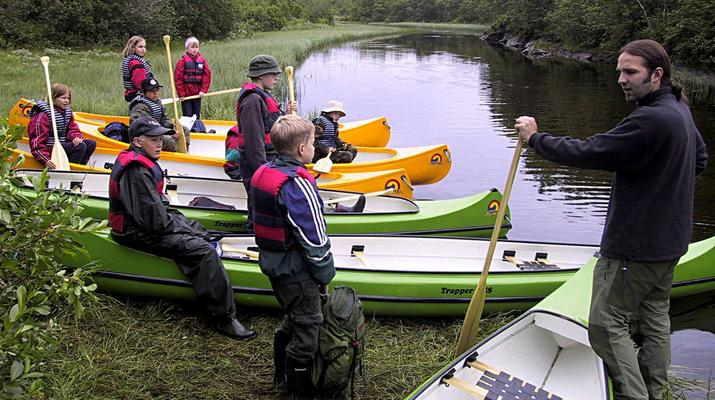 Kayaking-Bodø-Canoeing excursion down the Futelva River near Bodø-6