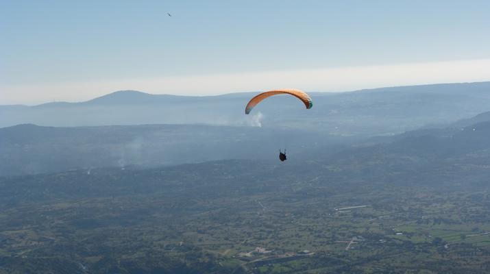 Paragliding-Madrid-Tandem paragliding flight near Madrid-6