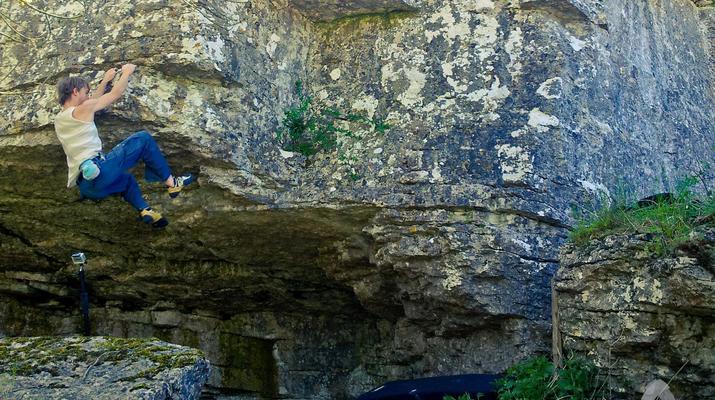 Klettern-Visby-Klettern am Högklint bei Visby, Gotland-2