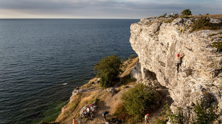 Klettern-Visby-Klettern am Högklint bei Visby, Gotland-1