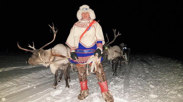 Reindeer sledding-Tromsø-Northern Lights Reindeer sledding trip near Tromsø-6