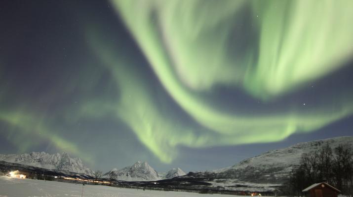Reindeer sledding-Tromsø-Northern Lights Reindeer sledding trip near Tromsø-4