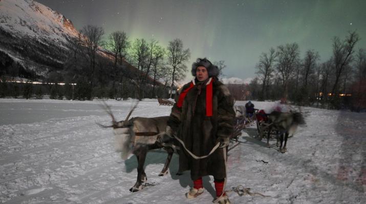 Reindeer sledding-Tromsø-Northern Lights Reindeer sledding trip near Tromsø-5