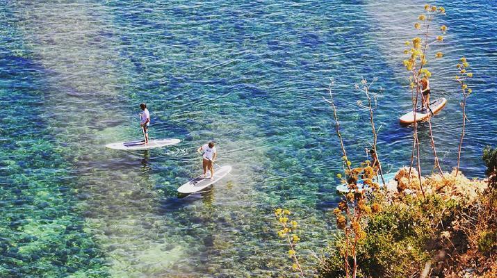 Stand Up Paddle-Lagos-Balade en SUP dans les Grottes de Lagos-6
