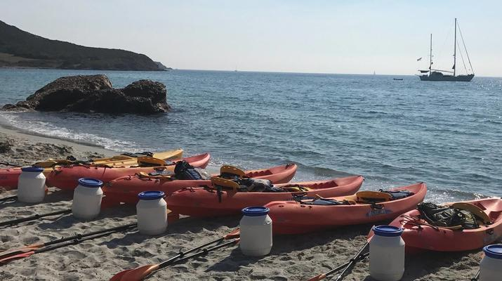 Kayak de mer-Balagne-Randonnée en Kayak depuis la Plage de Lozari, Corse-1