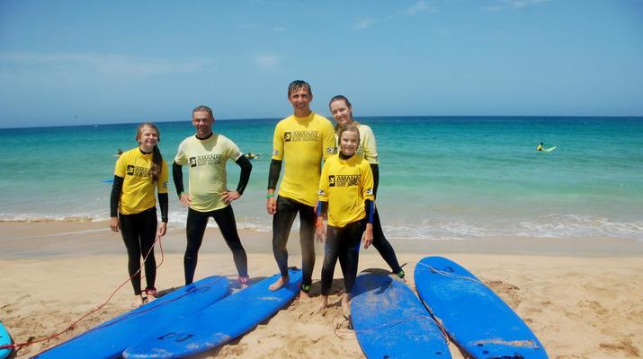 Surfing-Caleta de Fuste, Fuerteventura-Beginner's Surfing Courses in Caleta de Fuste-2