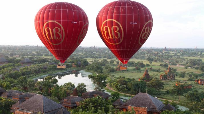 Hot Air Ballooning-Bagan-Hot air balloon flight over Bagan-4