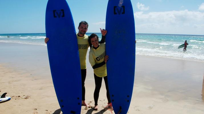 Surfing-Caleta de Fuste, Fuerteventura-Beginner's Surfing Courses in Caleta de Fuste-6
