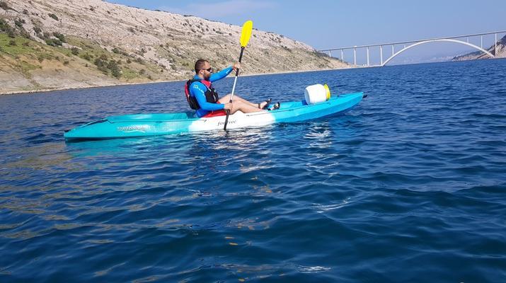 Kayak de mer-Krk-Kayak de mer de l'îlot de Saint-Marc et du pont de Krk-2