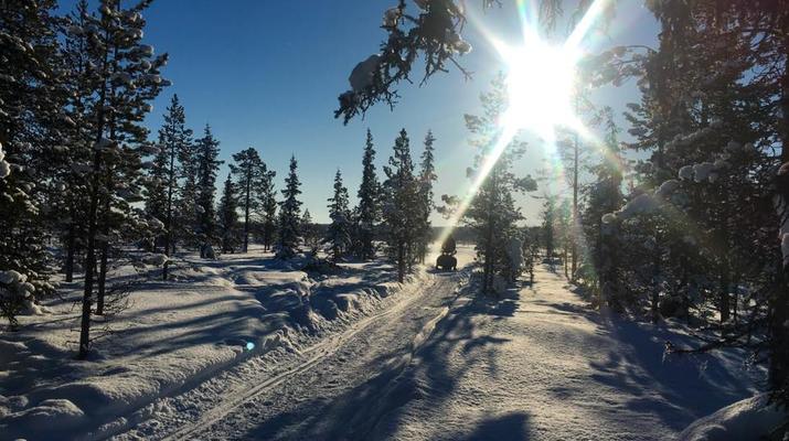 Motoneige-Kiruna-Excursion en motoneige l'après-midi-1