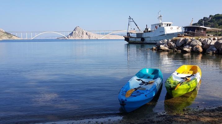 Kayak de mer-Krk-Kayak de mer de l'îlot de Saint-Marc et du pont de Krk-3